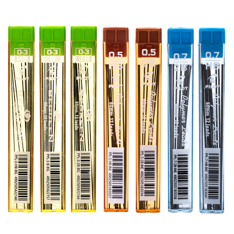 5 Tubes PILOT Lead Grade B 2B HB Mechanical Pencils Lead PPL-3/5/7 0.3mm 0.5mm 0.7mm Written Width Smooth Writing Anti-break image