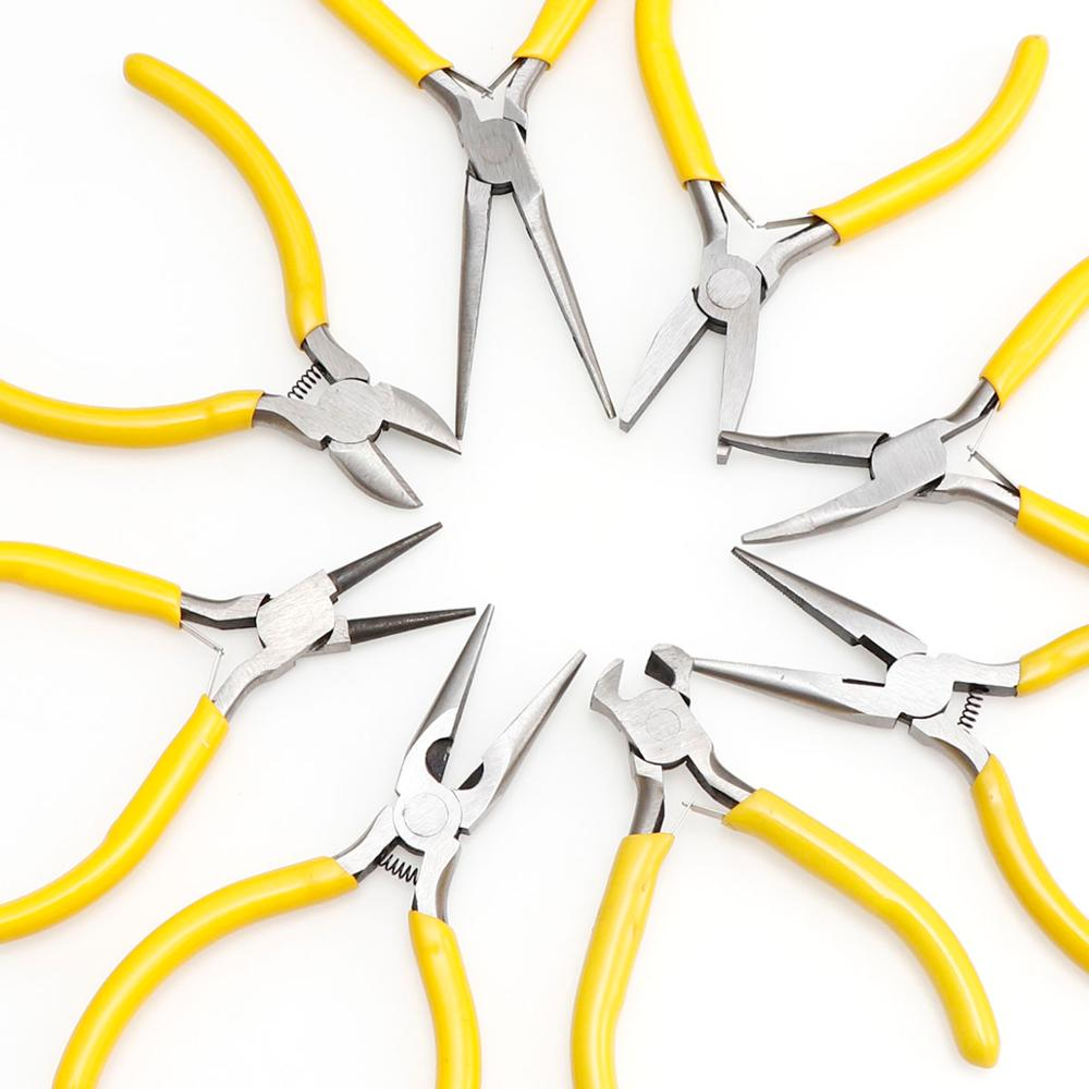 1pcs Yellow DIY Long Needle Round Nose Jewelry Pliers Practical Jewelry Handmade Tool Jewelry Pliers Tools & Equipment Kit