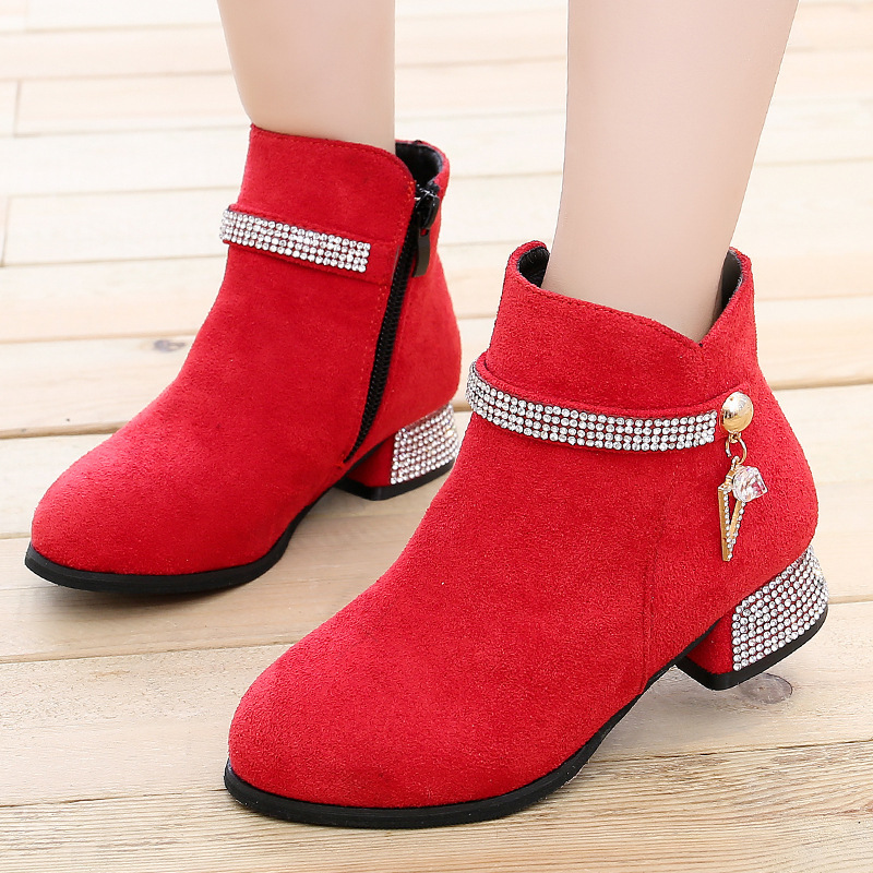 Kids Ankle Leather Boots For