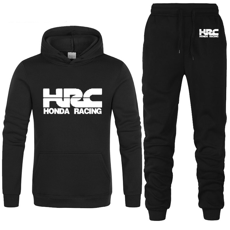 Hoodies Men HRC Race Motorcycle Car Logo Printed Unisex Sweatshirt Men Hoodie Hip Hop Harajuku Casual Fleece Hoodies Pants Suit