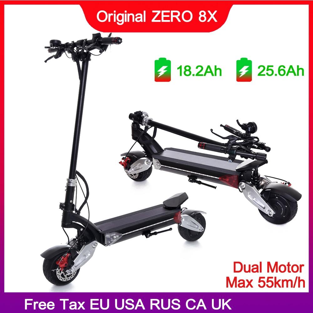 Le plus nouveau zéro 8X Mini scooter électrique double moteur 52V1600W hors route 55 km/h large roue, poignée pliante, double chargeur
