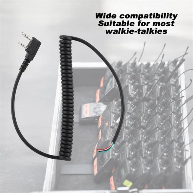 динамик mic walkie talkie кабель для динамика baofeng uv5r kenwood фотография