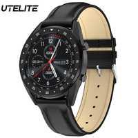 UTELITE L7 inteligentny zegarek mężczyźni kobiety Bluetooth zadzwoń IP68 wodoodporny tętno ciśnienie krwi zespół dla Huawei Xiaomi Apple telefon