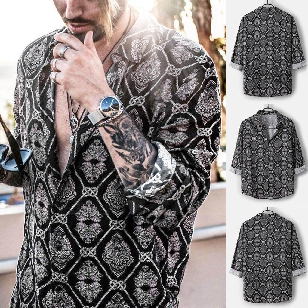 Men Shirts Casual Daily Leopard Print  Shirts