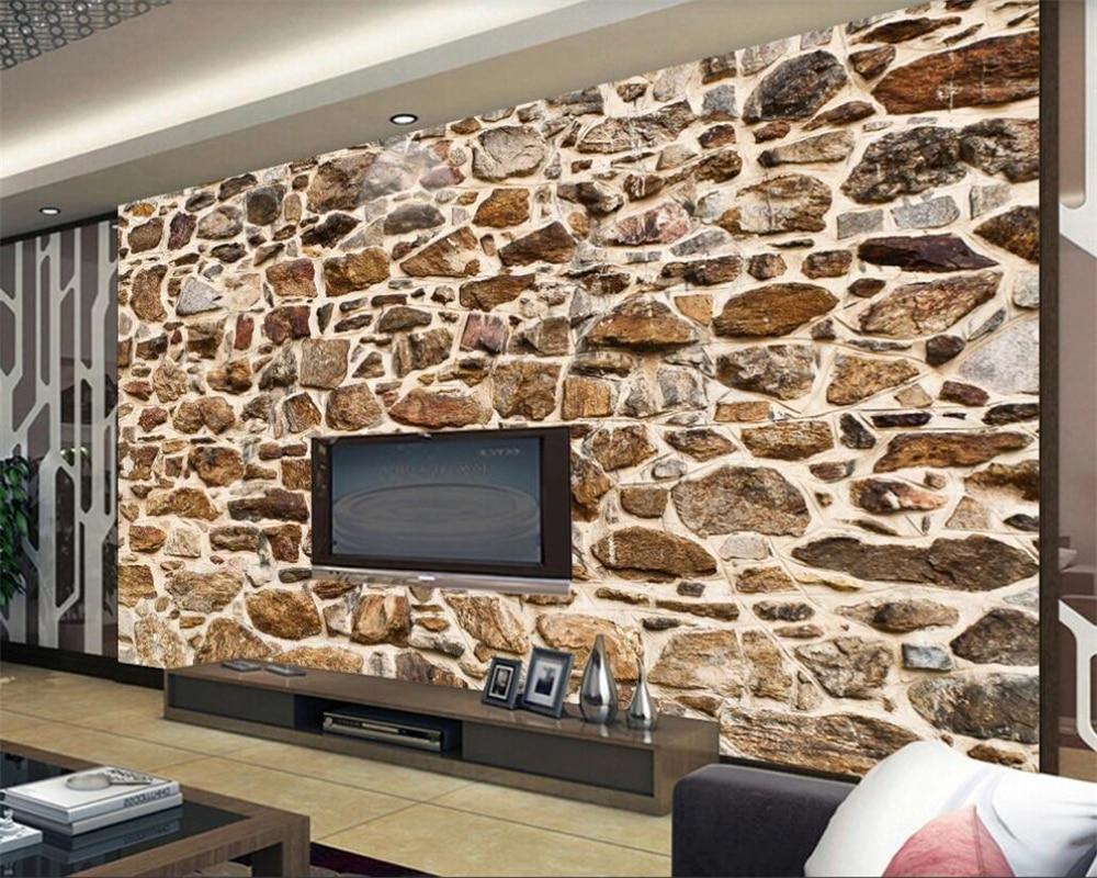 Beibehang Wallpaper For Walls 3 D Vintage Retro Papel De Parede 3d Embossed Stone Texture TV Background Wall Paper Papier Peint