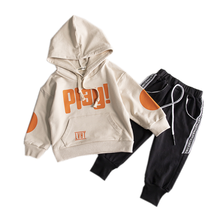 New Spring Autumn Baby Girl Clothes Children Boys Letter Hooded Pants 2Pcs/sets Toddler Fashion Clothing Infant Kids Tracksuits kids tracksuits 2018 new autumn boys clothes sets letter printed hoodies
