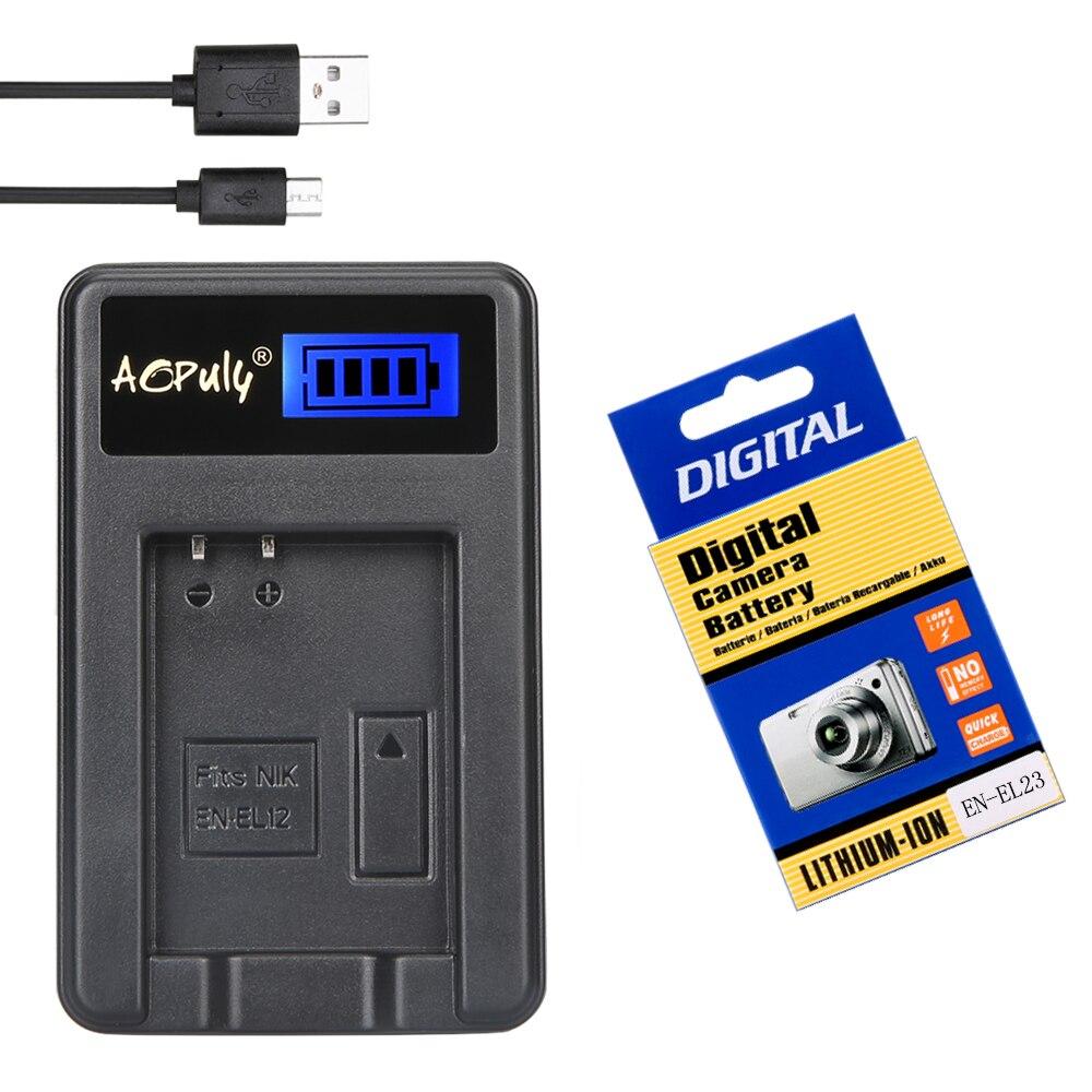 EN-EL23 EN EL23 batterie pour appareil photo LCD chargeur USB pour Nikon COOLPIX P600 B700 S810c P900 P610 appareil photo