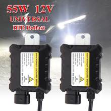 Balastro digital hid xenon 55w 2 peças, balastro eletrônico de ignição 12v, para h1, h3, h3c h4-1 H4-2 h7 h8 9005 9006