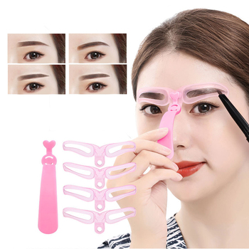 12pcs Women Eyebrow Stencils Reusable Eye Brow Drawing Guide Template Professional Eyebrow Shaping Beauty Brow Cosmetic Tool