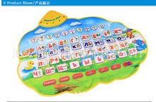 Russian Alphabet Carpet Baby Play Talking Poster Mat Nice Music Animal Sounds Educational Learning Baby Toy Gift for Children(China)