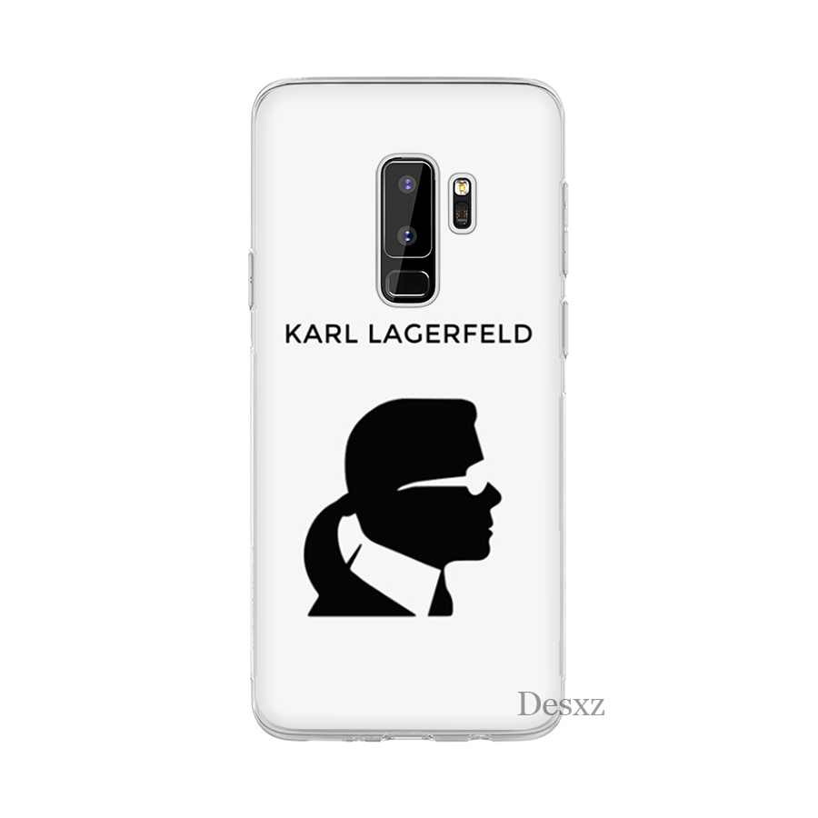 Desxz Fashion Karl Lagerfeld Cell Phone Case untuk Samsung Galaxy S3 S4 S5 S6 S7 Edge S8 S9 S10 PLUS s10e Cover