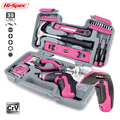 Hi-Spec 35 шт. 4 в USB электрическая отвертка Li-Ion розовый Домашний набор инструментов DIY набор ручных инструментов для девушек и женщин