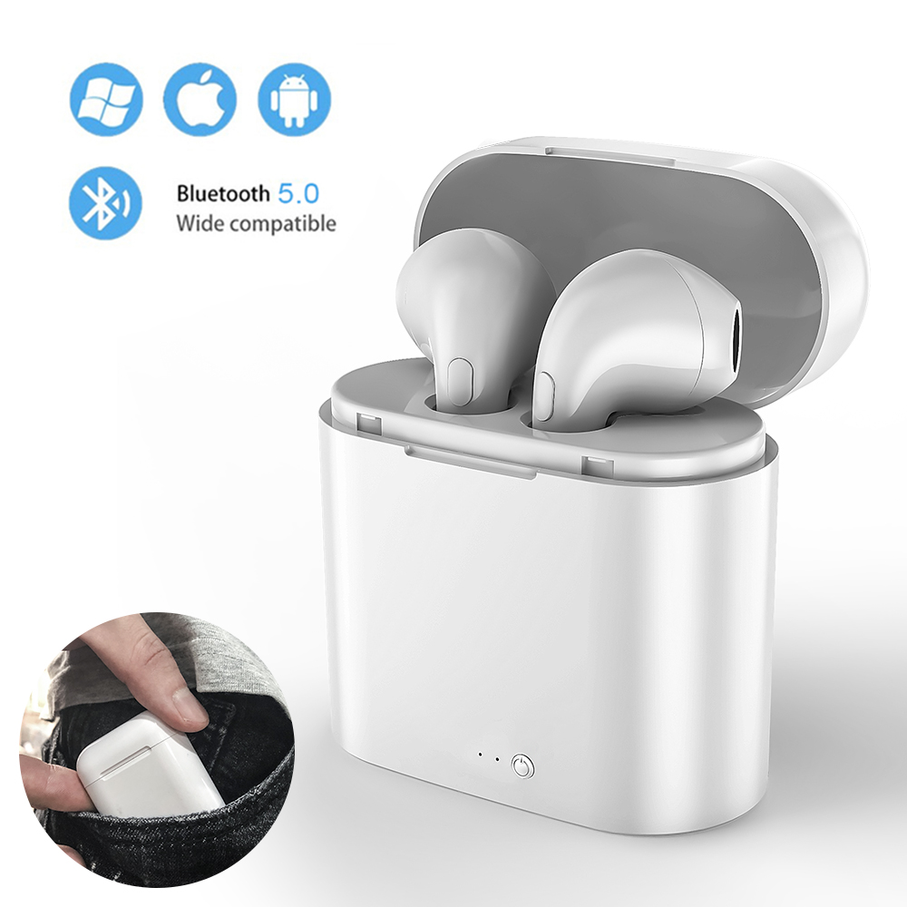 i7s tws Wireless Bluetooth Earphone headset Stereo Earbud Earphones With Charging Box For Iphone Smart Phone headphone image