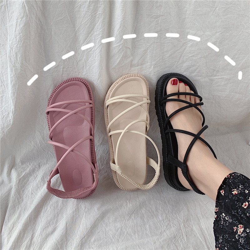 Women's Shoes Summer Comfortable Fashionable Sandals Foam Sole Non-slip Wear-resisting Thick Sole Shoehy