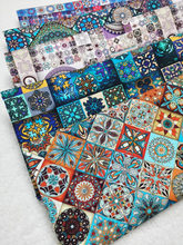 Tissu en coton à fleurs carrées, motif mystère bleu, Patchwork de Style africain, vêtements de maison, décoration de la maison
