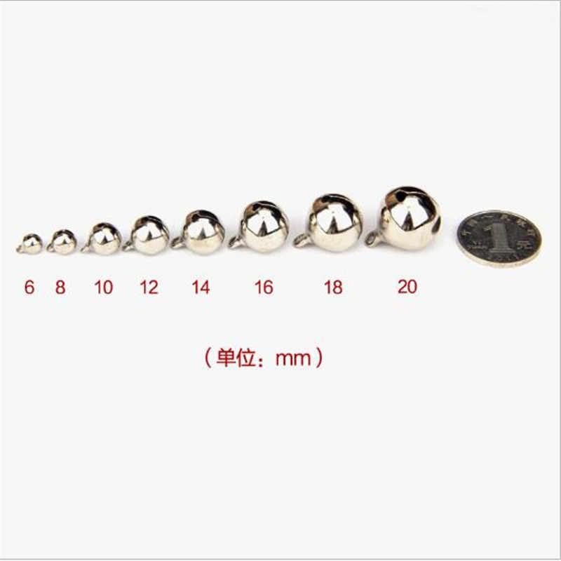 10 ADET DIY Yeni Yıl Süsleri Yılbaşı Ağacı Süsleri Gümüş bakır embriyo açık bakır çan 6/8/10 /12/14/16mm bells Pet Bells