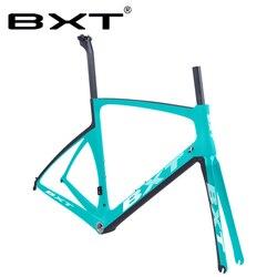 Nova montagem plana de carbono 700c v freio da bicicleta estrada quadro ud mate/brilhante 49 52 54 56cm fibra carbono completo corrida conjunto quadros