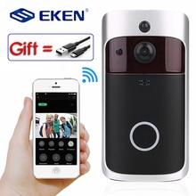 Eken умный WiFi видео дверной звонок камера визуальный домофон с колокольчиком ночного видения IP дверной звонок беспроводная домашняя камера безопасности