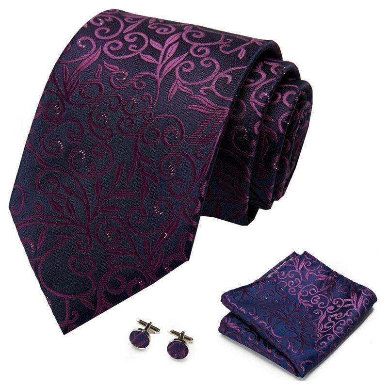 MenWithTie 100/% Silk Purple Paisley Men Necktie Office Party Formal Tie
