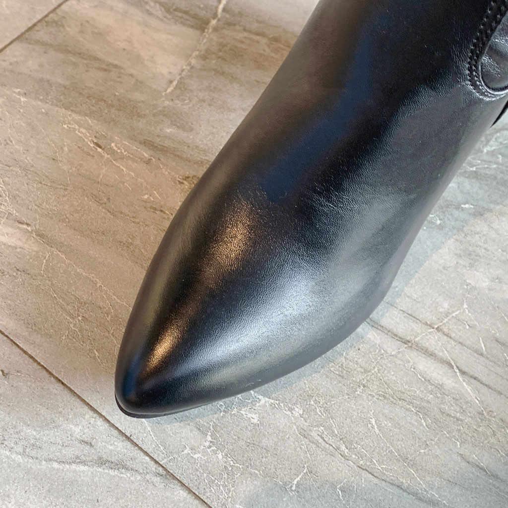 Kadın Over-the-diz Çizmeler Seksi Bayan Sonbahar Kış Ayakkabı Kadın Ayakkabı Sivri Yüksek Topuk Ayakkabı Çapraz dantel-up Streç Çizmeler