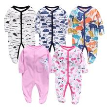 Одежда для новорожденных девочек; комбинезоны для малышей; комбинезон-Ползунки с рисунком; мягкая хлопковая одежда; осенние пижамы для мальчиков; одежда для сна