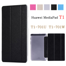 Tablet case for funda Huawei MediaPad T1 7.0 case T1-701 T1-701U T1-701W case PU leather flip cover stand case protective shell case for huawei mediapad t1 7 0 inch t1 701 t1 701u t1 701w 7 0 cover magnetic flip tablet case pu leather smart cover coque