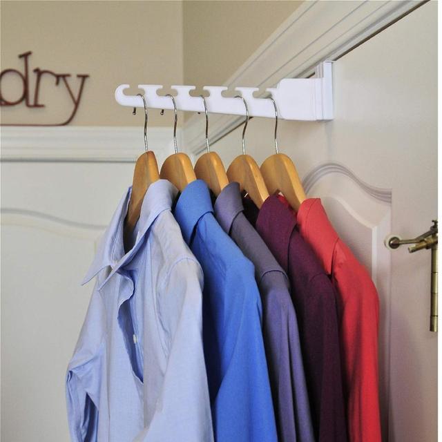 متعددة الوظائف ماجيك الباب الشماعات مع هوك للملابس منشفة حقيبة مفتاح الفضاء إنقاذ الحمام المطبخ أكثر من الباب المنظم