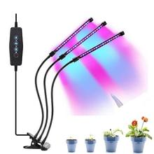 Luz LED para cultivo de plantas, Lámpara USB de espectro completo para cultivo de plantas, flores y plantas de interior, 5V