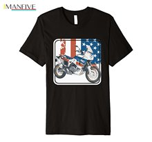 Newest 2019 Men T-Shirt Fashion Japan Motorbike AFRICA TWIN Shirt Trail Riding Rally Motorcycle Tees O Neck T Short Sleeve
