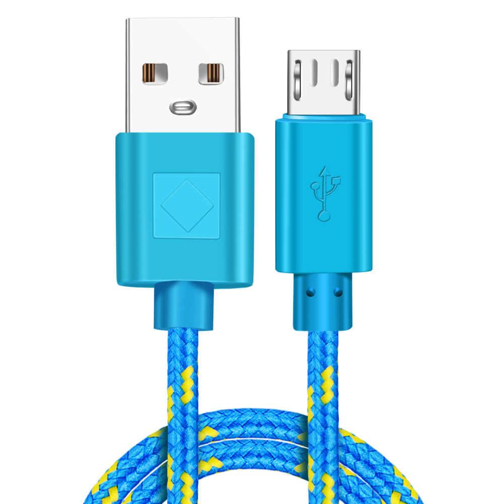 Vumpach Nylon Jalinan Micro USB Kabel 1 M/2 M/3 M Sinkronisasi Data USB Kabel Charger untuk samsung Htc Lg Huawei Xiaomi Android Telepon Kabel