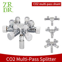 Wyin aquário de aço inoxidável multi maneira co2 distribuidor divisor válvula agulha, válvula retenção bolha contador para solenóide regulat