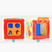 children s building blocks toys 1 3 years old baby shape matching wooden Animals Shape Educational Cube Bricks Matching Blocks Sorting Box Plastic Baby Intelligence Toys for Children Building Blocks