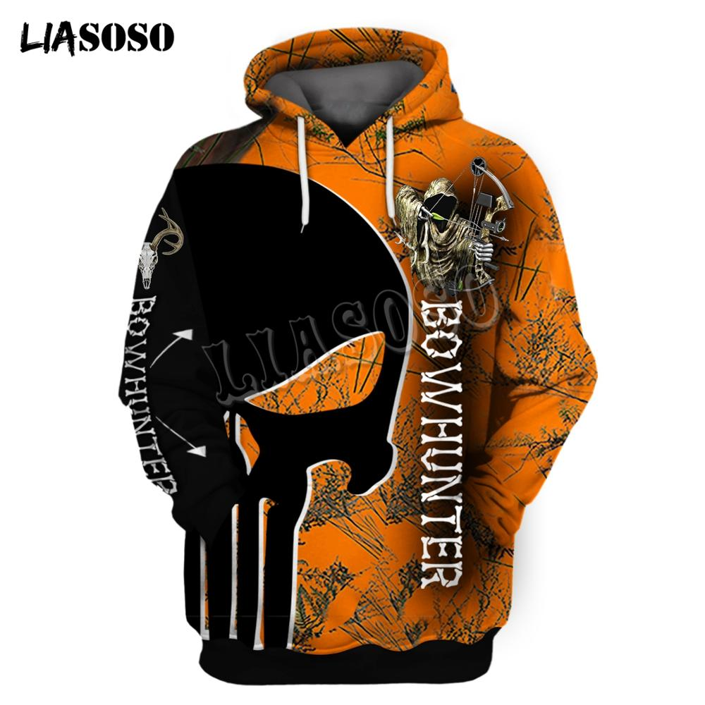 LIASOSO Hunting Camo Pattern 3D Printed Men Hoodies/Sweatshirt Harajuku Fashion Hooded Long Sleeve Pullovers Unisex Streetwear