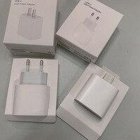 10 unids/lote 20w PD cargador rápido de carga Original de la UE nos enchufe para teléfono 12 pro max 11 Pro XS XR 12 Mini con embalaje al por menor