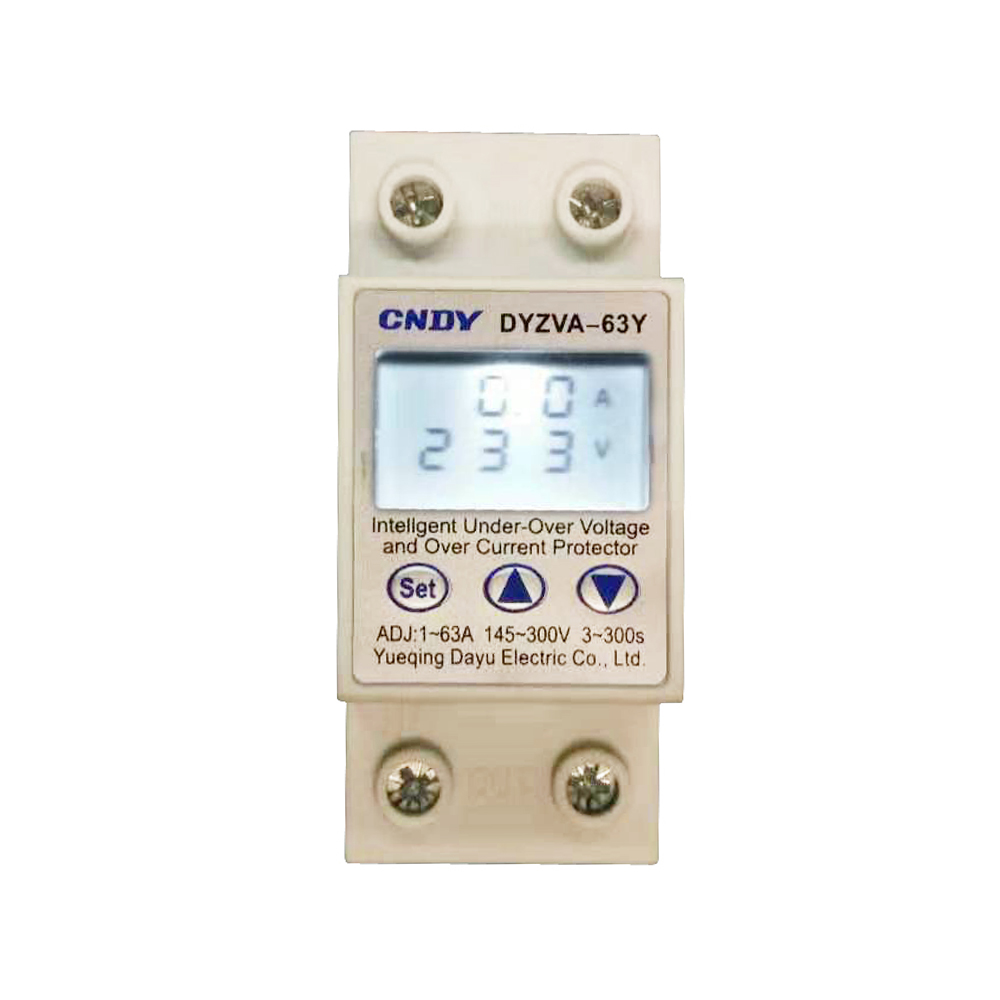 PV home 1-63A 145-300V adjustable LCD voltage protector solar current limiter good quality current limiting protective device