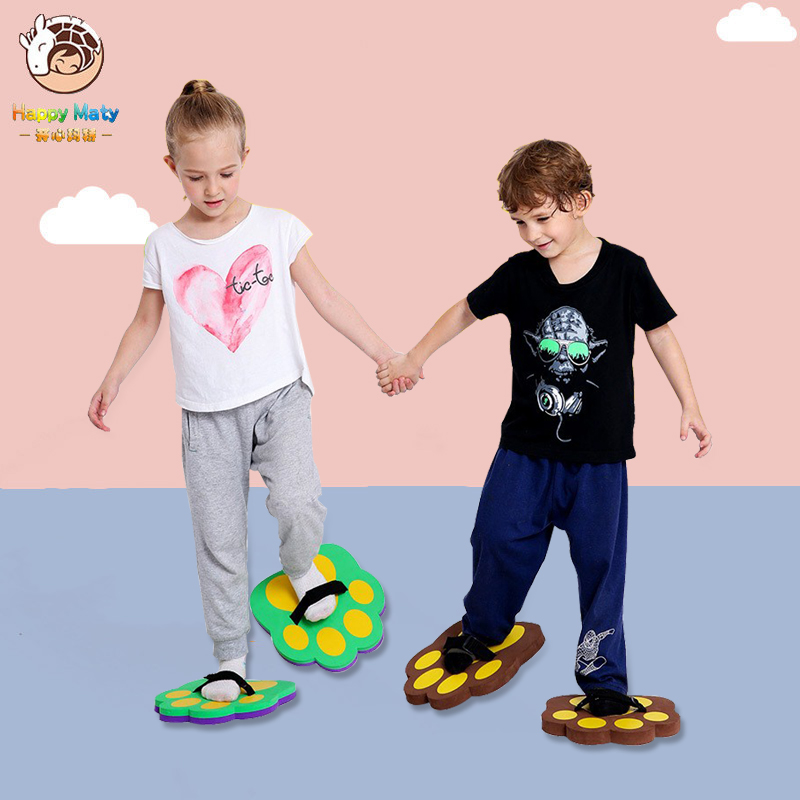 Kids Outdoor Balance Training Toy Balance Shoes Synchronous Shoes  EVA Foam Bear's Paw Games For Children C06