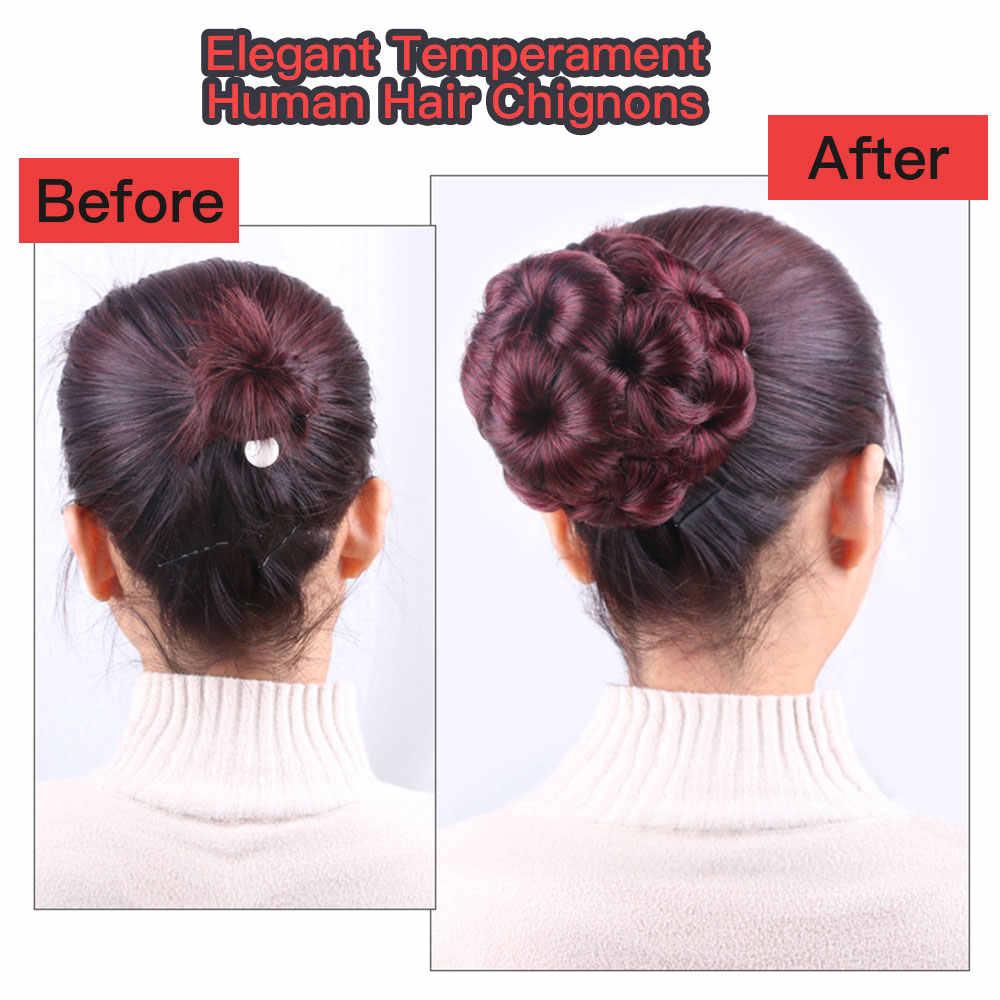 Перуанские волосы remy, накладные аксессуары, искусственные человеческие волосы, шиньон, афро-натуральные волосы, накладные пучки, черные волосы, булочки для женщин