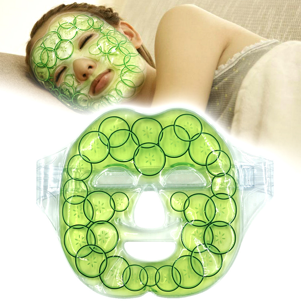 Gel Face Mask Face Care Women Hot Cold Facial Mask Tourmaline Facial Treatments Soothing Massage Reusable Beauty Masks Ice Pack