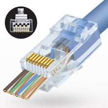 EZ-RJ45 conectores profissional cat6 8p8c rj45 plug 50 peças (50 peças)…