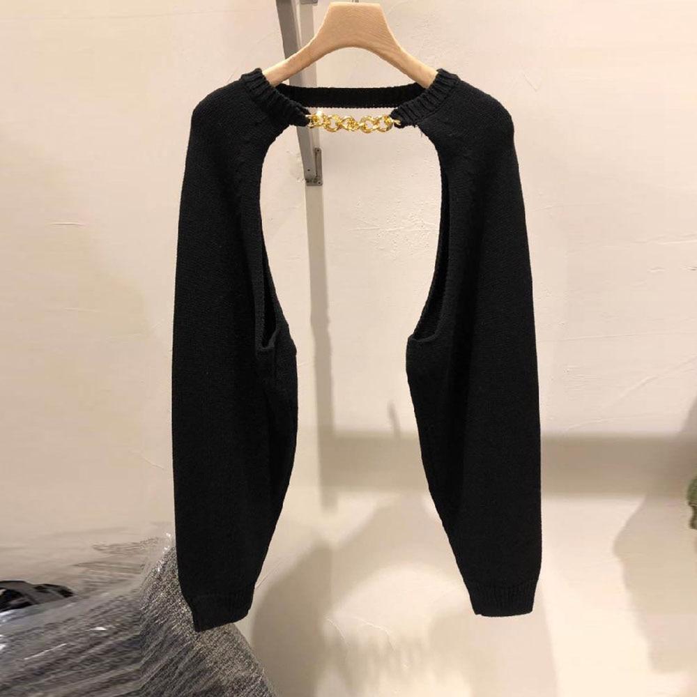 2021 Весенняя вязаная шерстяная шаль мода новый тонкий с круглым вырезом и длинными рукавами 4 вида цветов однотонные винтажные женские свите...