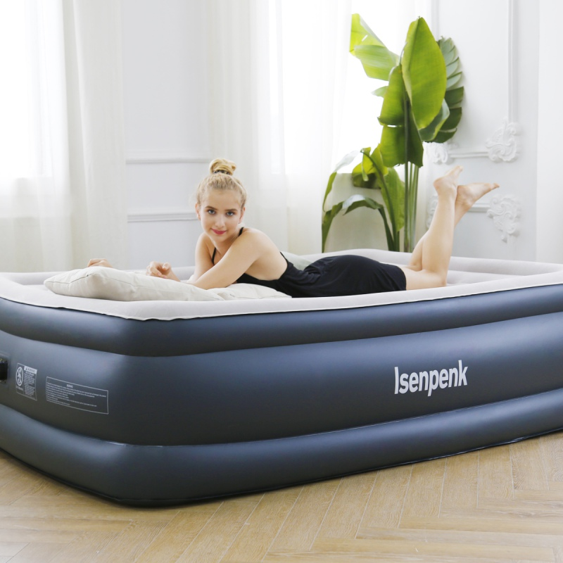 Air Mattress Inflatable Bed No Leakage Camping Home Air Mattress Air Bed With Rechargeable Pump