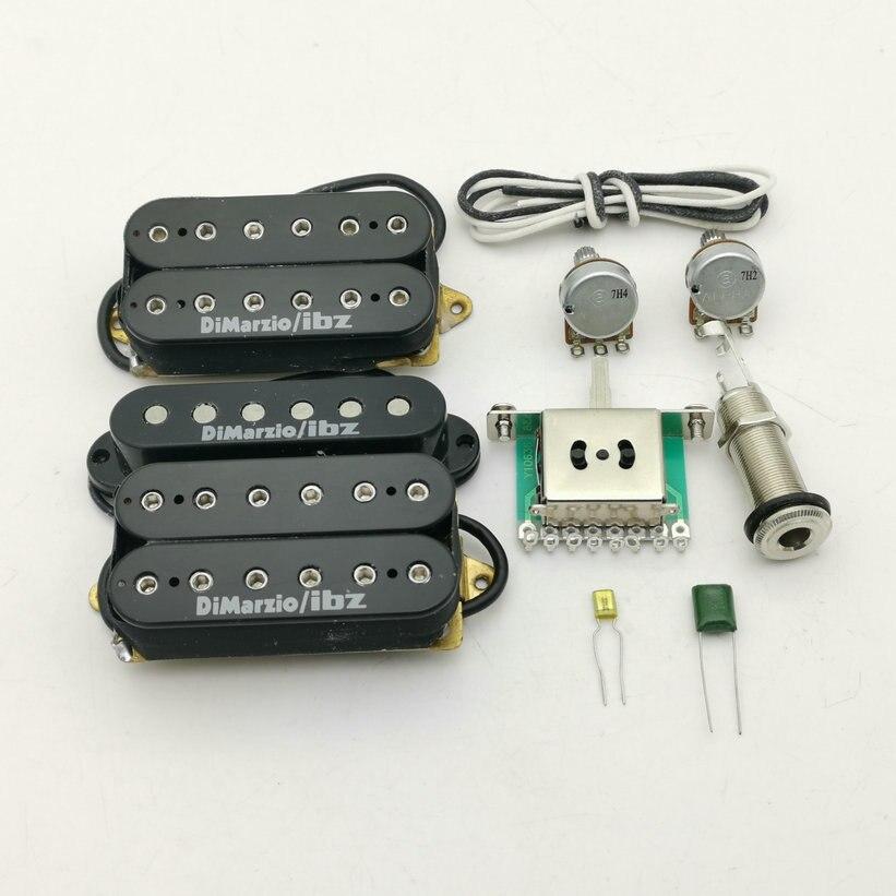ibanez guitar DiMarzioIBZ Alnico5 Guitar Pickups RG2550 / RG2570 HSH Electric Guitar Pickup N/M/B 1 Set + parts