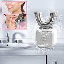 Nuovo Tipo U Sonic Spazzolino Da Denti Elettrico di Ricarica USB Pigro Spazzolino Da Denti Automatico 360 Gradi Sbiancamento Strumento di Pulizia Spazzola Igiene orale