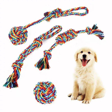 Chew-Toys Dogs-Supplies Dog-Rope Interactive-Toy Pet-Fidget Rainbow Funny Small Aggressive