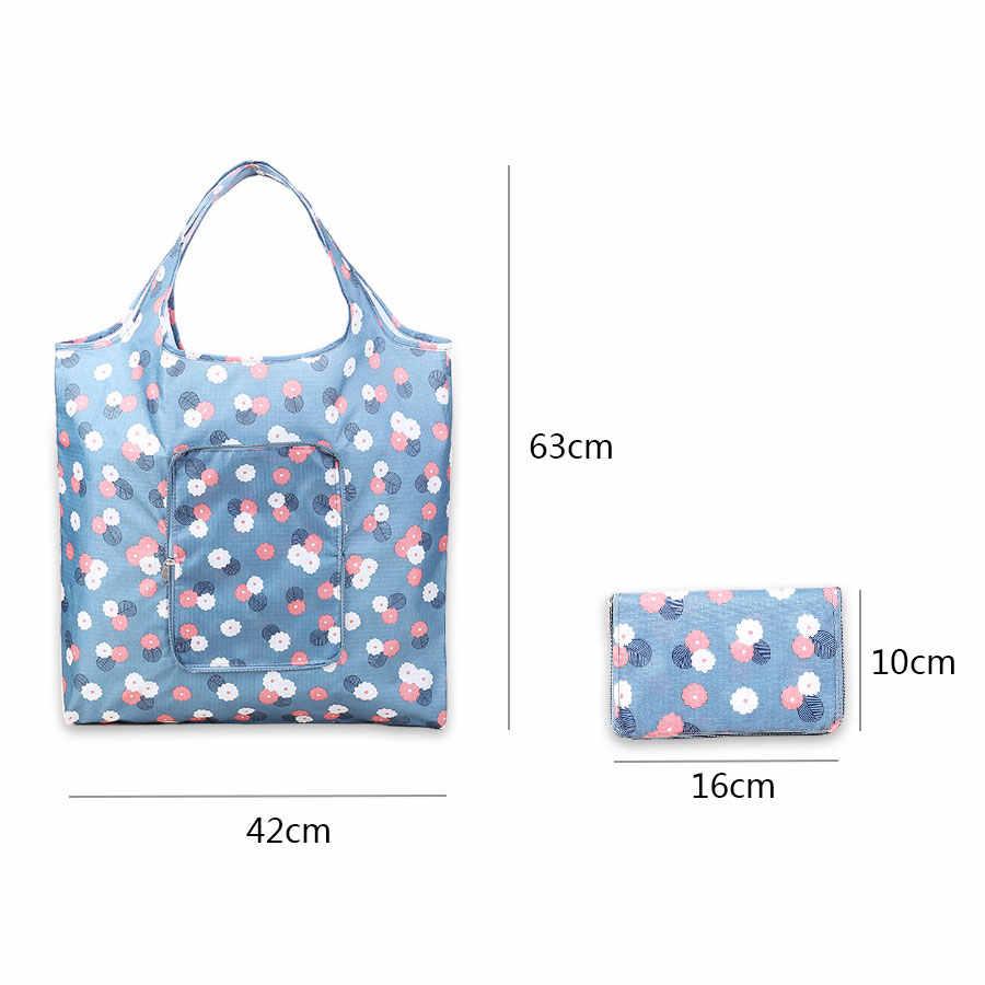 ท้องถิ่นสต็อกกันน้ำฟอร์ด Handy Big เก็บถุงช้อปปิ้งนำกลับมาใช้ใหม่รีไซเคิล Tote กระเป๋า