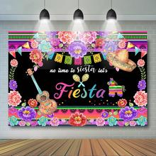 Summer Fiesta Theme Photography Backdrop Baby Shower Birthday Party Decor Cinco De Mayo Mexican Festival Photo Background