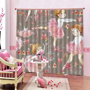girls curtains Luxury Blackout 3D Window Curtains For Living Room Bedroom Customized size Decoration curtains