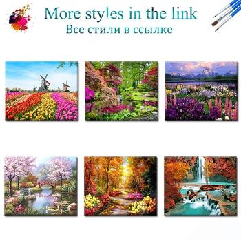 Peinture à numéros, paysage coloré 2
