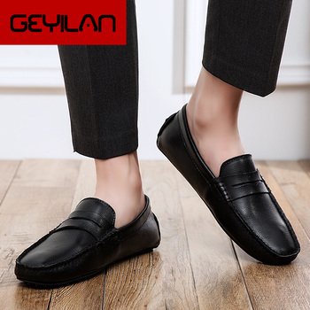 Men Leather Driving Shoes Luxury Fashion Men Casual Shoes Mens Wedding Shoes Loafers Adult Footwear Sapato Masculino