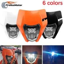 오토바이 새로운 LED 헤드 라이트 헤드 램프 헤드 램프 라이트 KTM EXC EXCF XC XCF XCW XCFW SX SXF 125 150 250 300 350 450 530